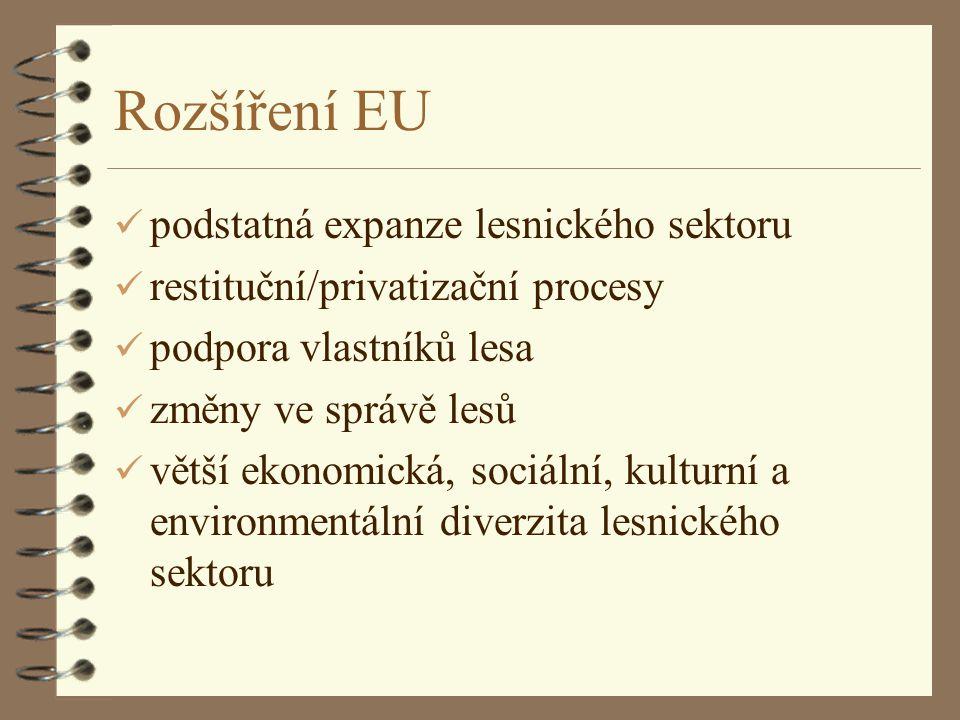 Rozšíření EU podstatná expanze lesnického sektoru