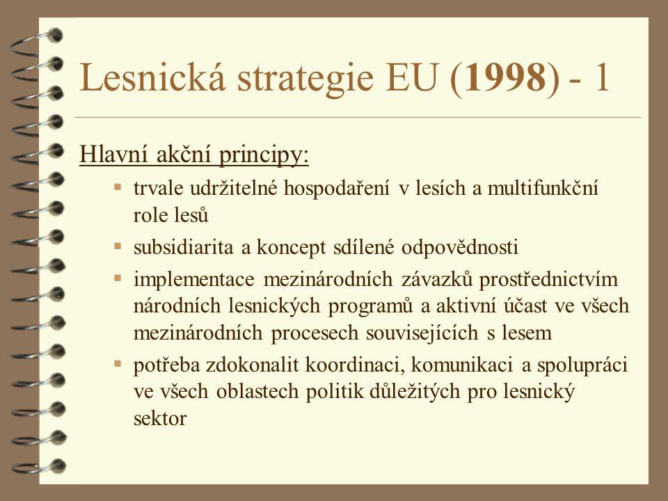 Lesnická strategie EU (1998) - 1