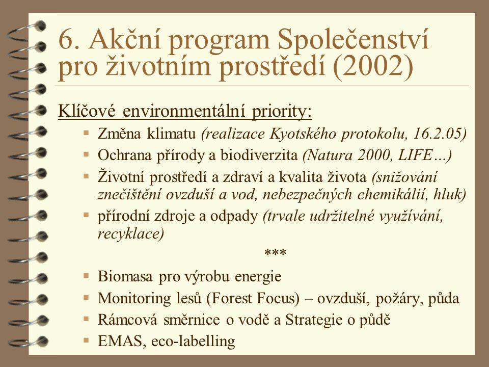 6. Akční program Společenství pro životním prostředí (2002)