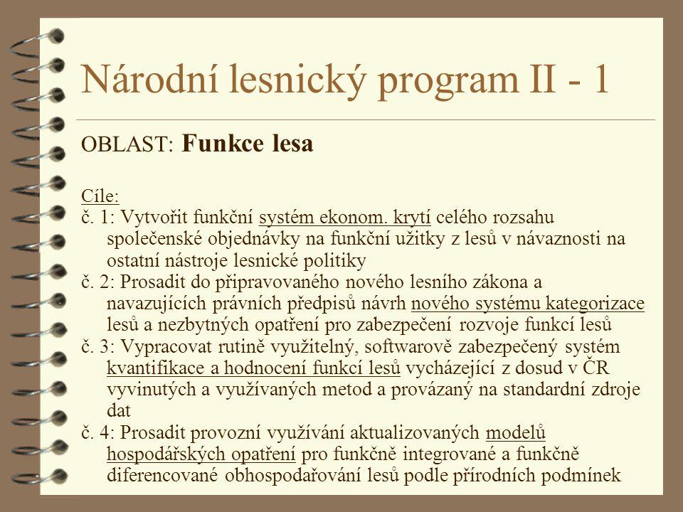 Národní lesnický program II - 1