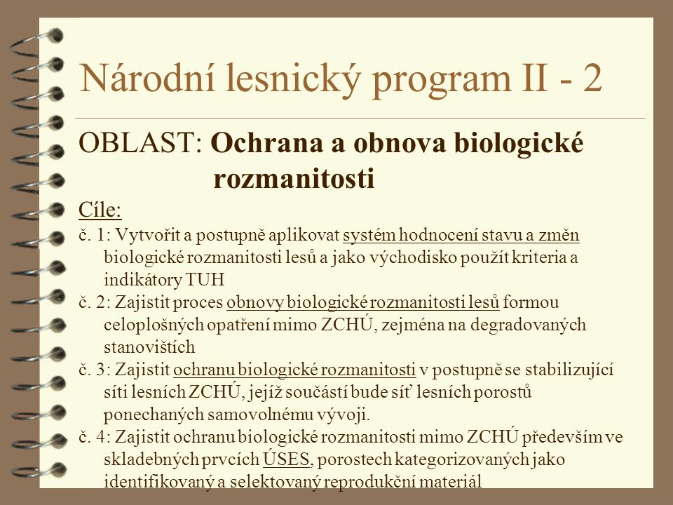 Národní lesnický program II - 2