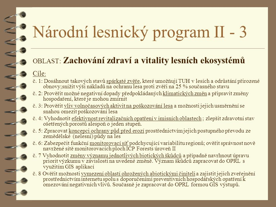 Národní lesnický program II - 3