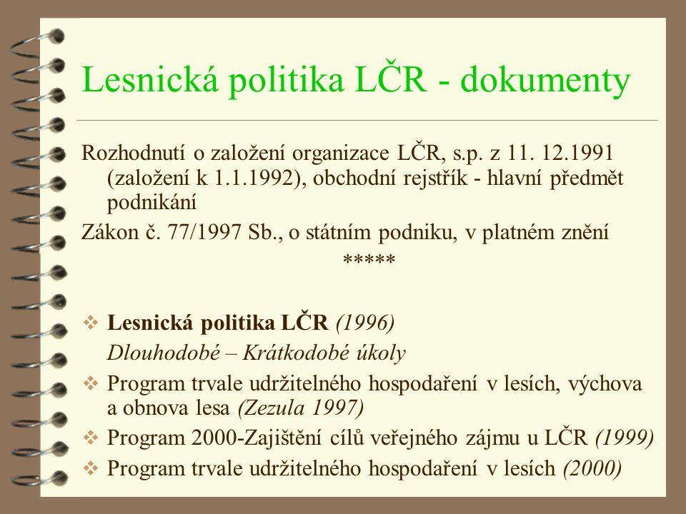 Lesnická politika LČR - dokumenty