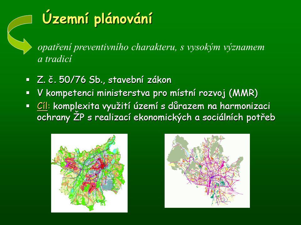 Územní plánování opatření preventivního charakteru, s vysokým významem