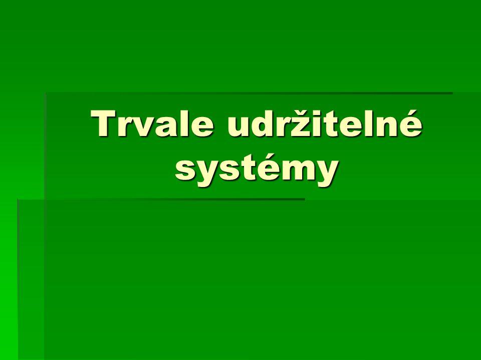 Trvale udržitelné systémy