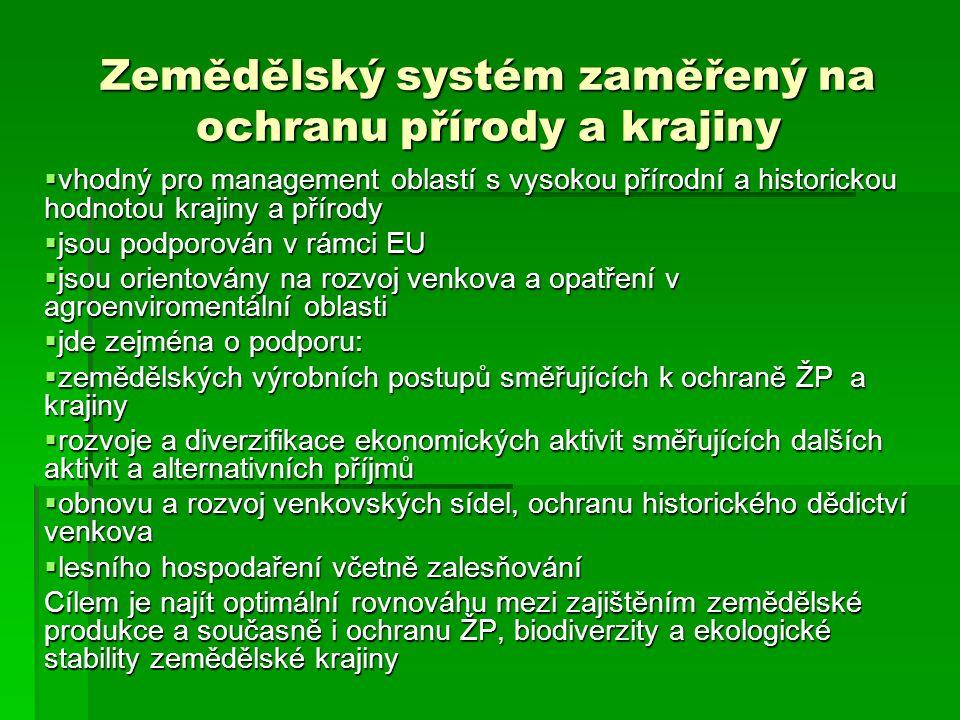 Zemědělský systém zaměřený na ochranu přírody a krajiny