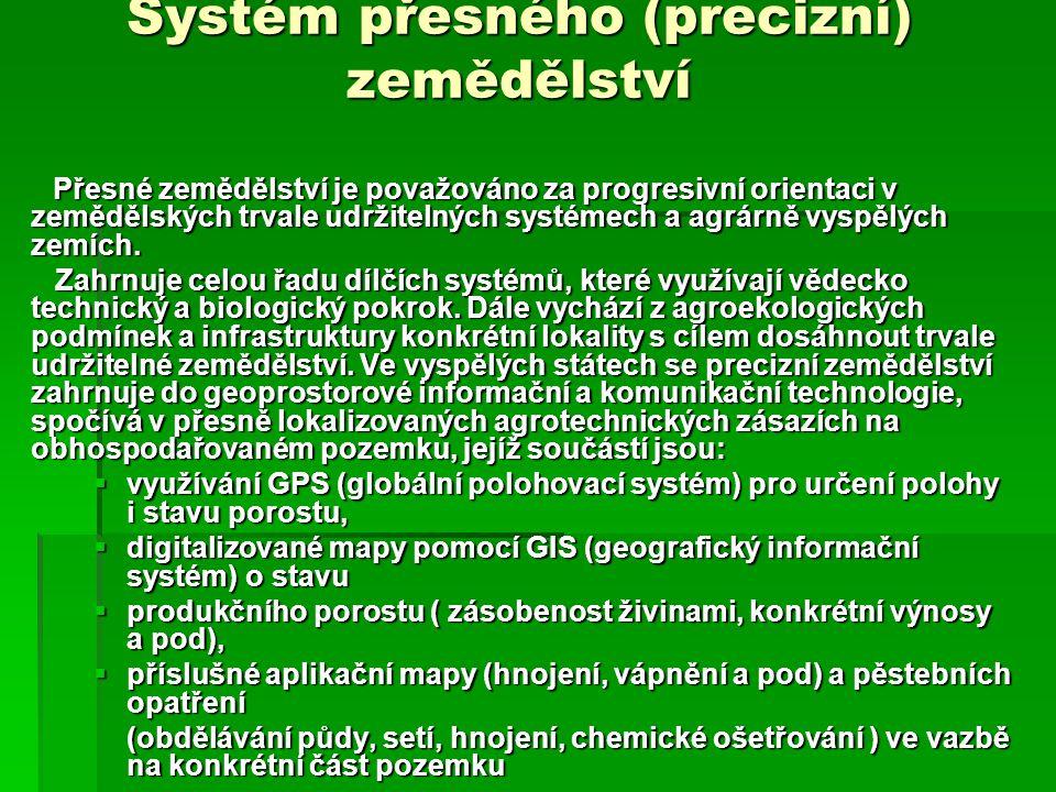 Systém přesného (precizní) zemědělství