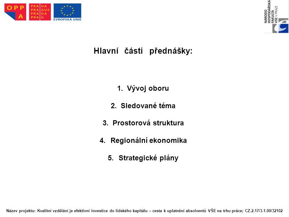 Hlavní části přednášky: