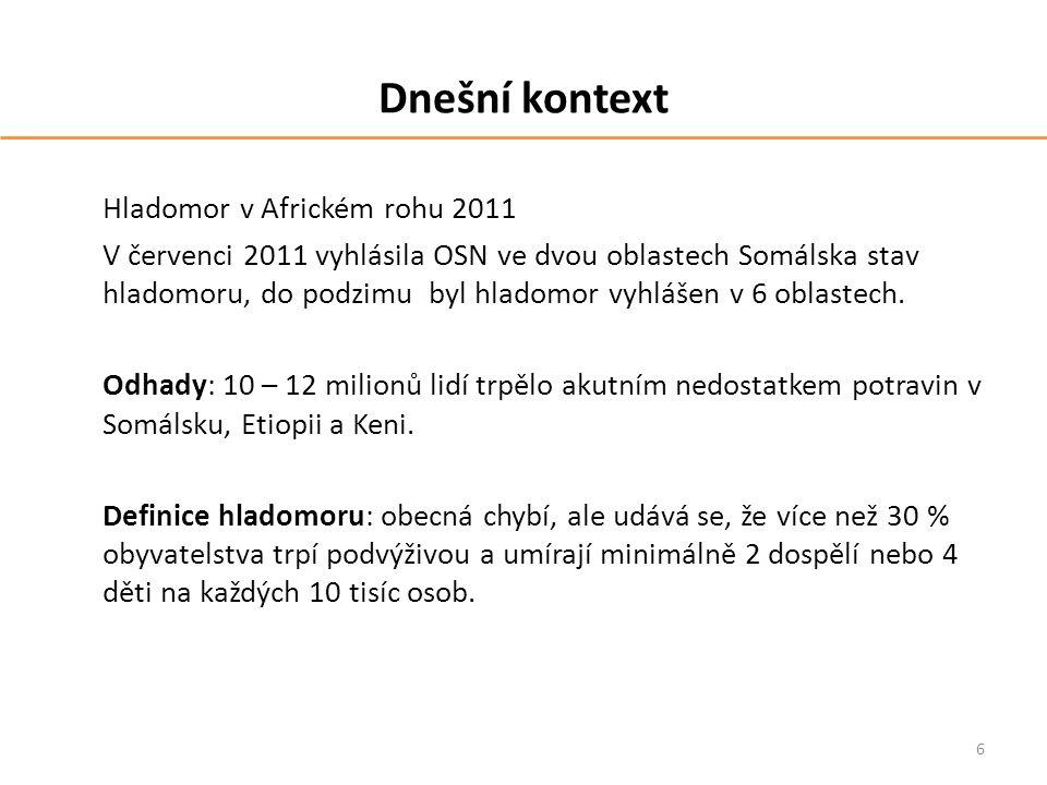 Dnešní kontext Hladomor v Africkém rohu 2011