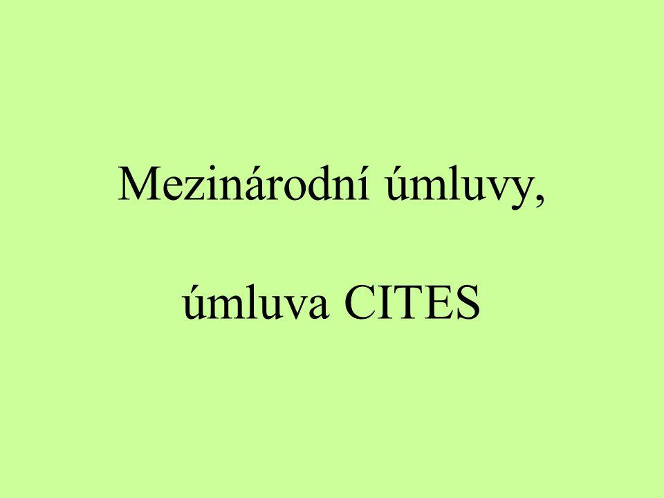 Mezinárodní úmluvy, úmluva CITES