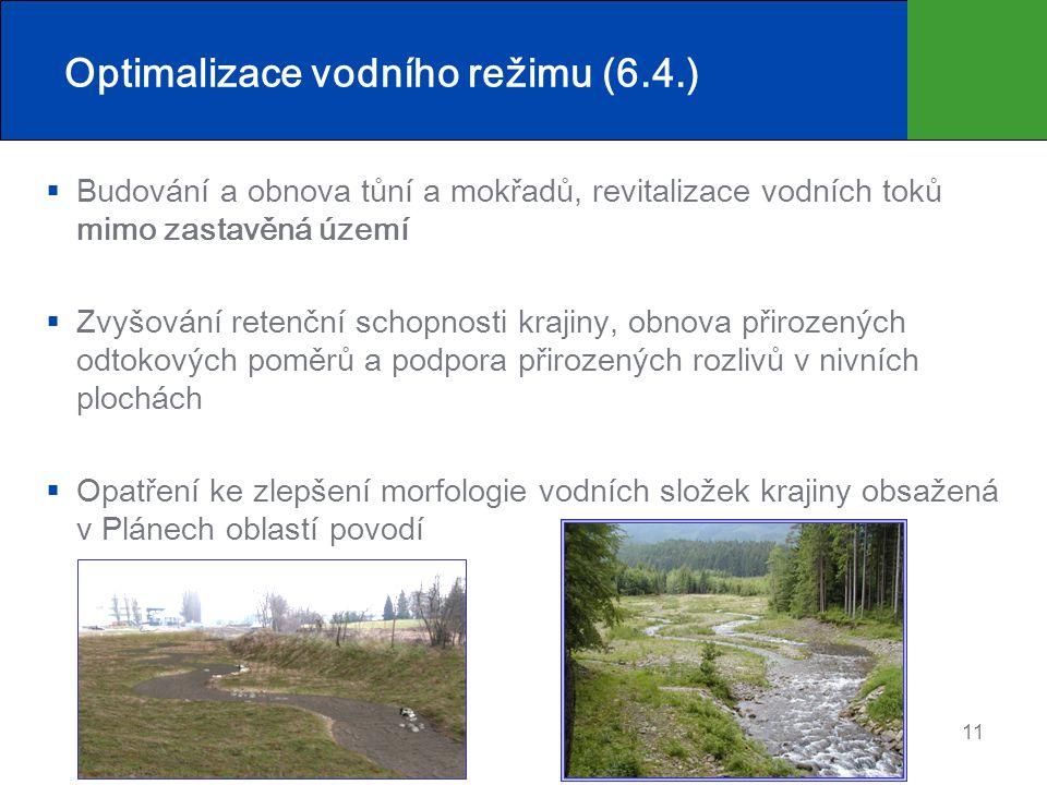 Optimalizace vodního režimu (6.4.)