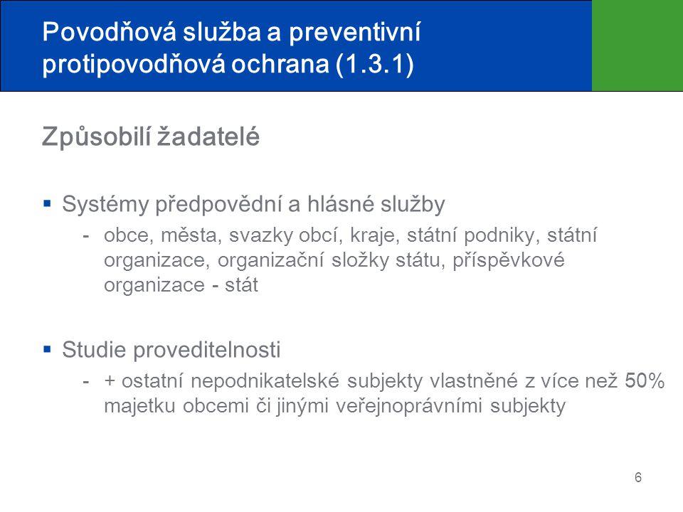 Povodňová služba a preventivní protipovodňová ochrana (1.3.1)
