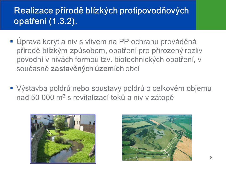 Realizace přírodě blízkých protipovodňových opatření (1.3.2).