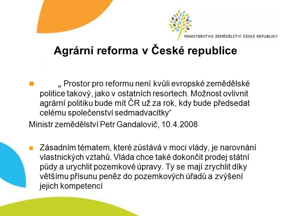 Agrární reforma v České republice