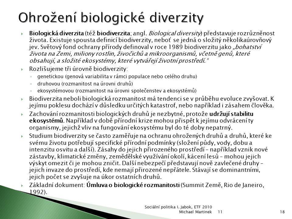 Ohrožení biologické diverzity