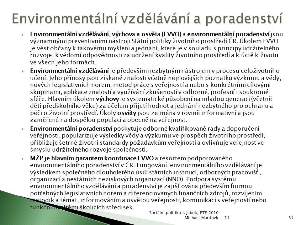 Environmentální vzdělávání a poradenství