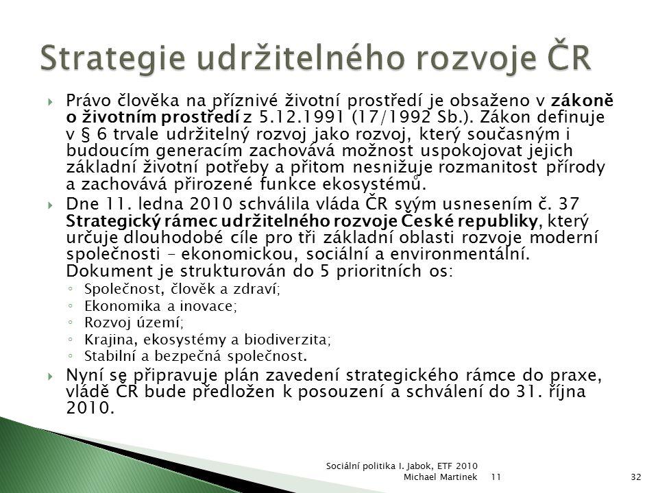 Strategie udržitelného rozvoje ČR