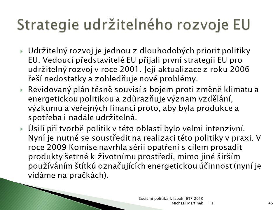 Strategie udržitelného rozvoje EU