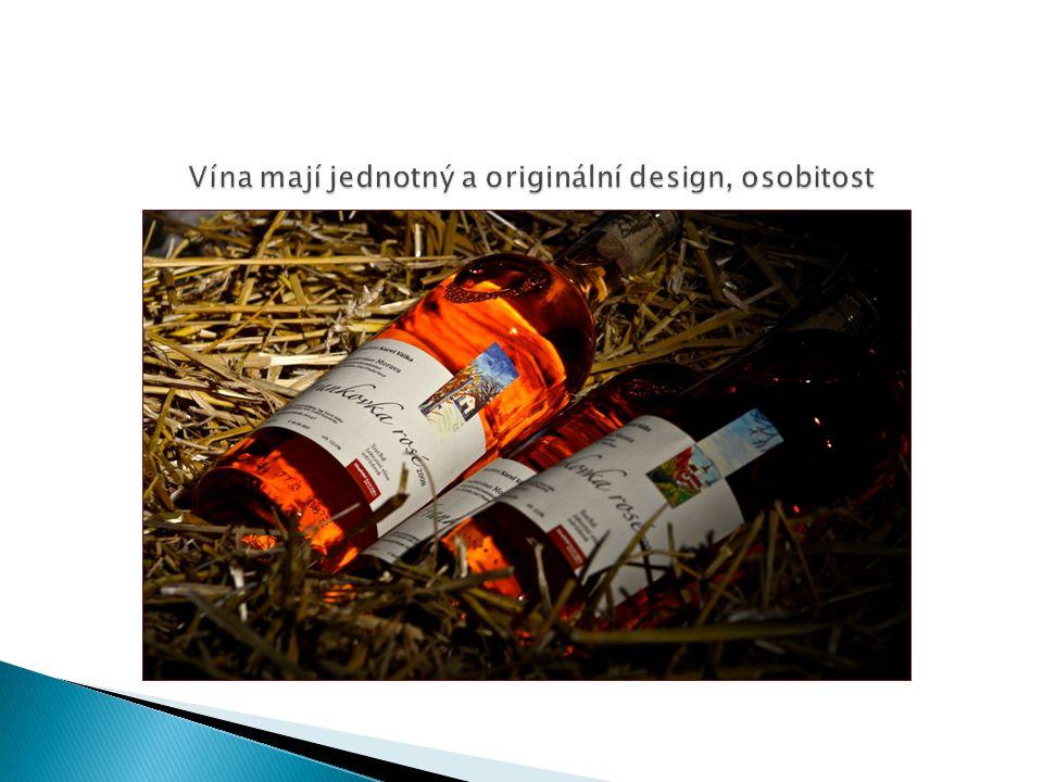 Vína mají jednotný a originální design, osobitost