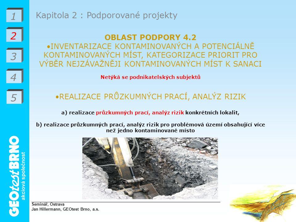 1 2 3 4 5 Kapitola 2 : Podporované projekty OBLAST PODPORY 4.2