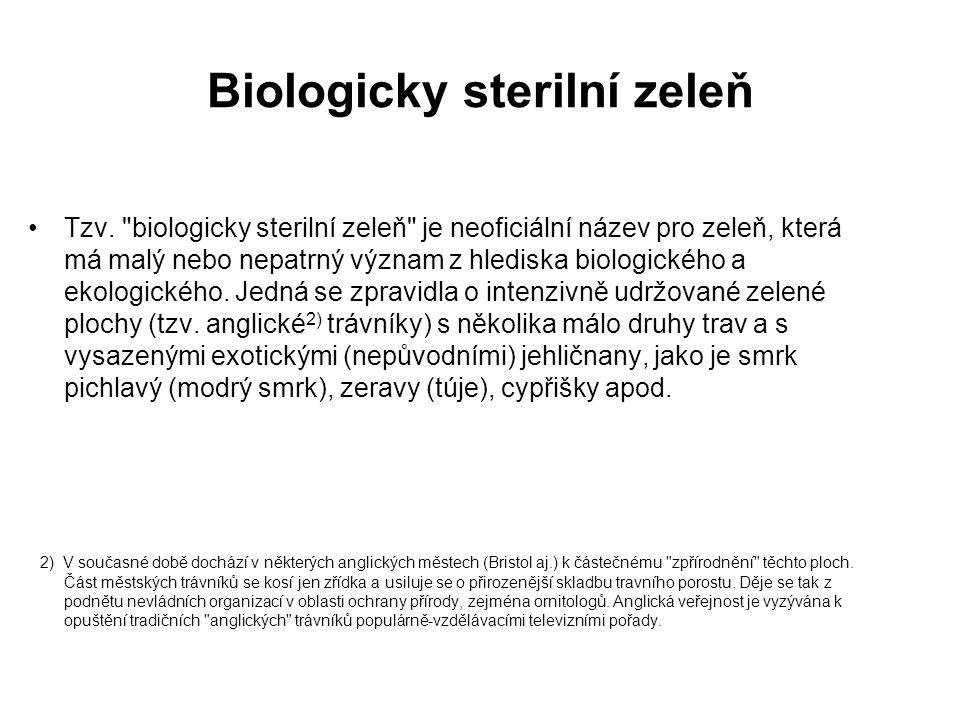 Biologicky sterilní zeleň
