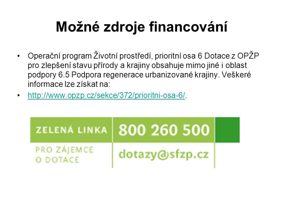 Možné zdroje financování