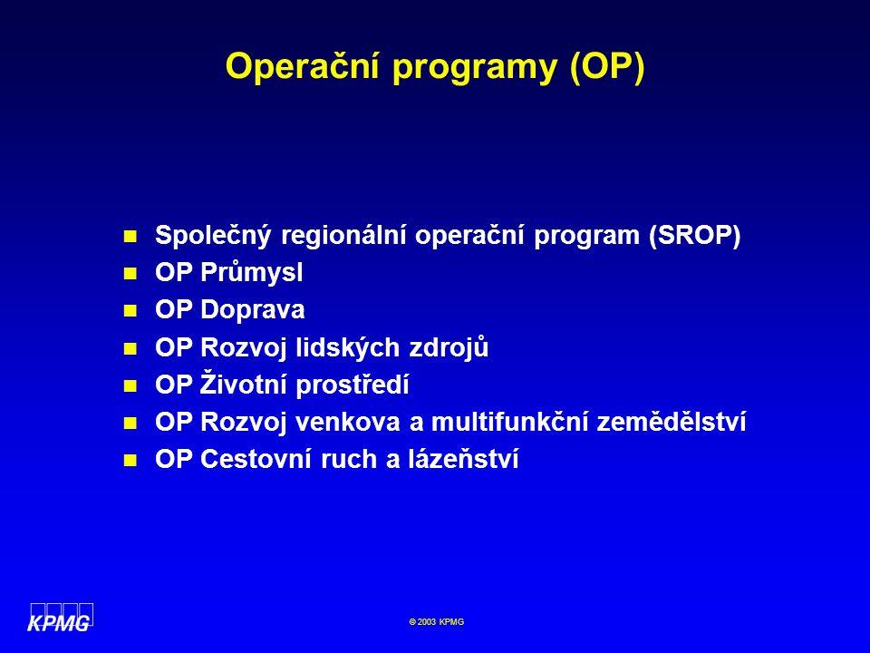 Operační programy (OP)