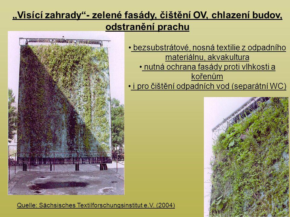 """""""Visící zahrady - zelené fasády, čištění OV, chlazení budov, odstranění prachu"""