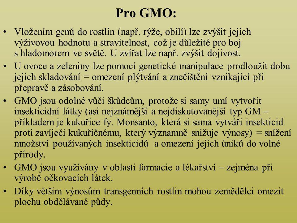 Pro GMO: