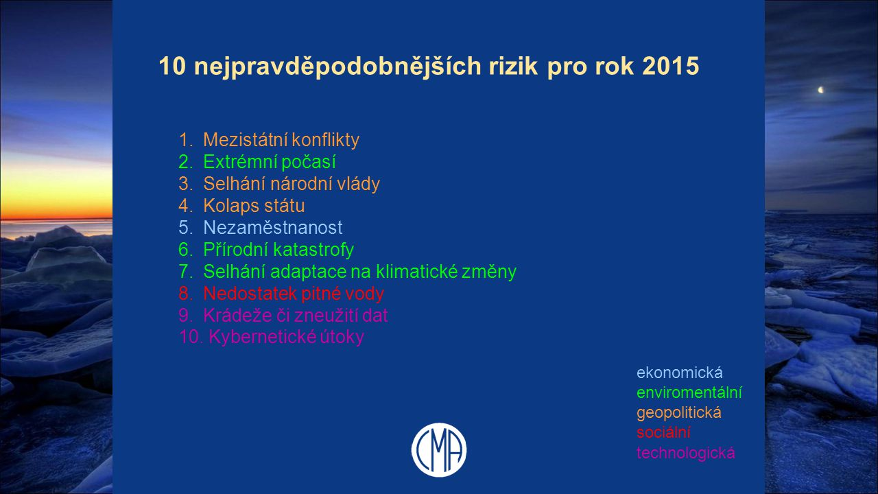 10 nejpravděpodobnějších rizik pro rok 2015
