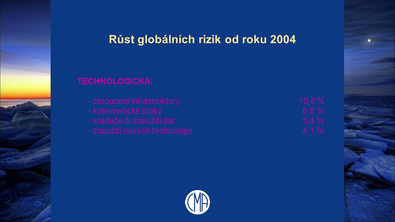 Růst globálních rizik od roku 2004