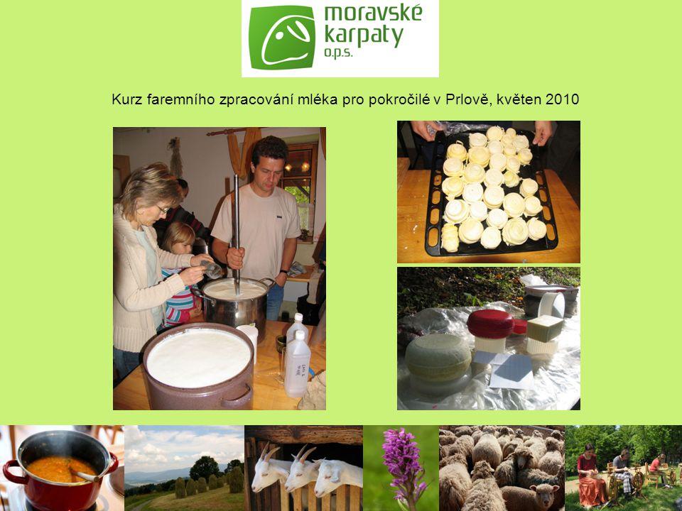 Kurz faremního zpracování mléka pro pokročilé v Prlově, květen 2010