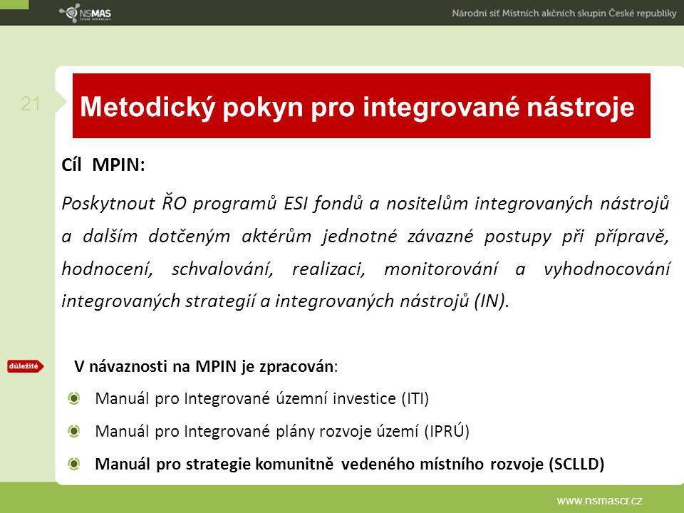 Metodický pokyn pro integrované nástroje