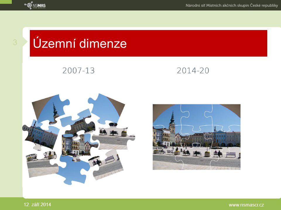 Územní dimenze 12. září 2014 www.nsmascr.cz