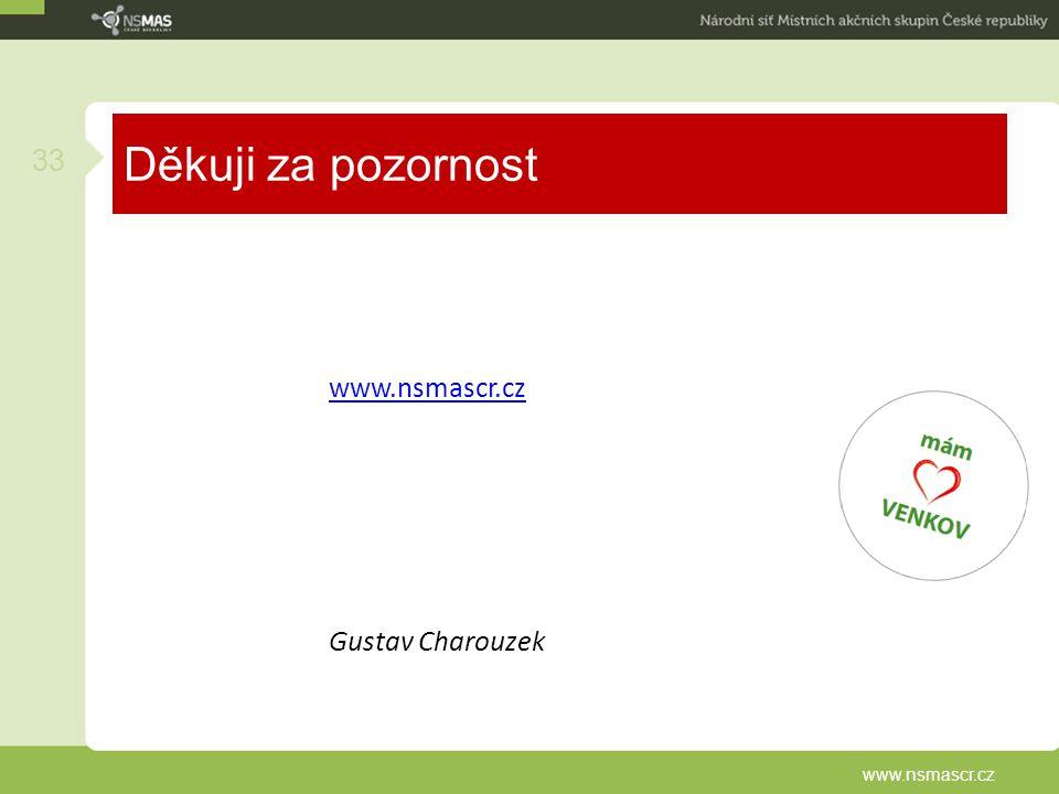Děkuji za pozornost www.nsmascr.cz Gustav Charouzek www.nsmascr.cz