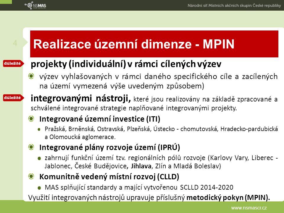 Realizace územní dimenze - MPIN