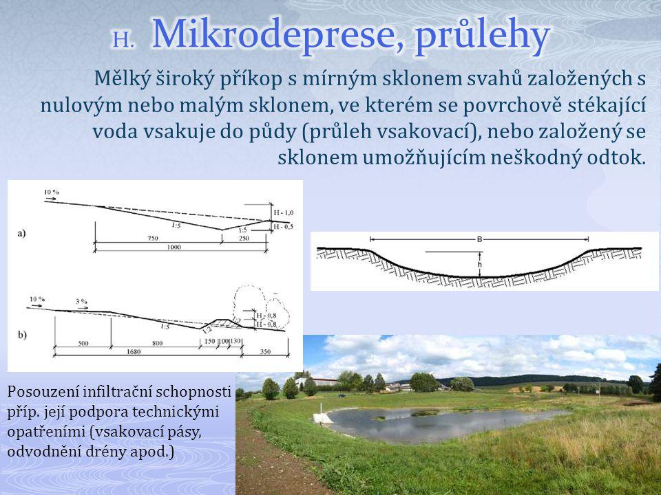 H. Mikrodeprese, průlehy