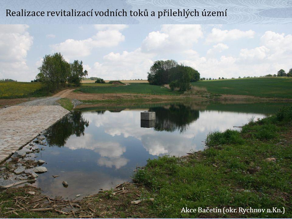 Realizace revitalizací vodních toků a přilehlých území
