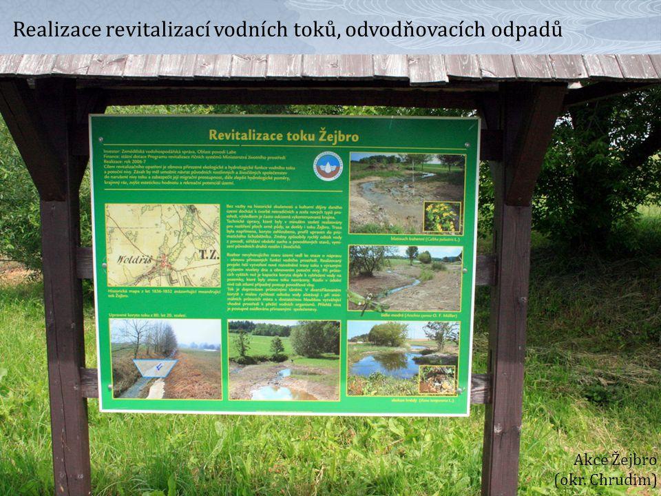 Realizace revitalizací vodních toků, odvodňovacích odpadů