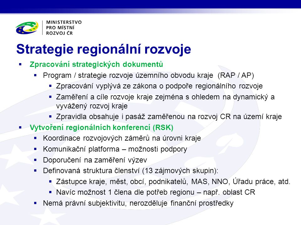 Strategie regionální rozvoje