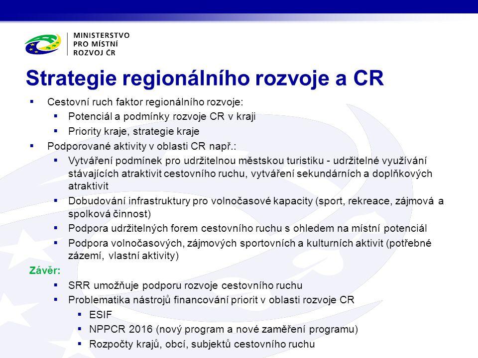 Strategie regionálního rozvoje a CR