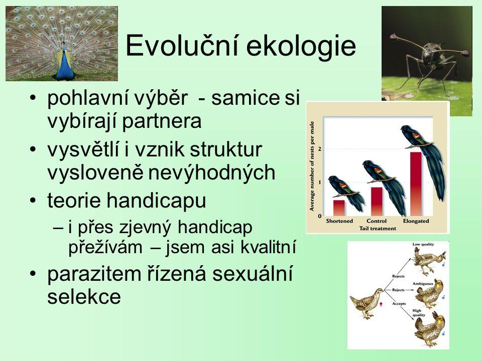 Evoluční ekologie pohlavní výběr - samice si vybírají partnera