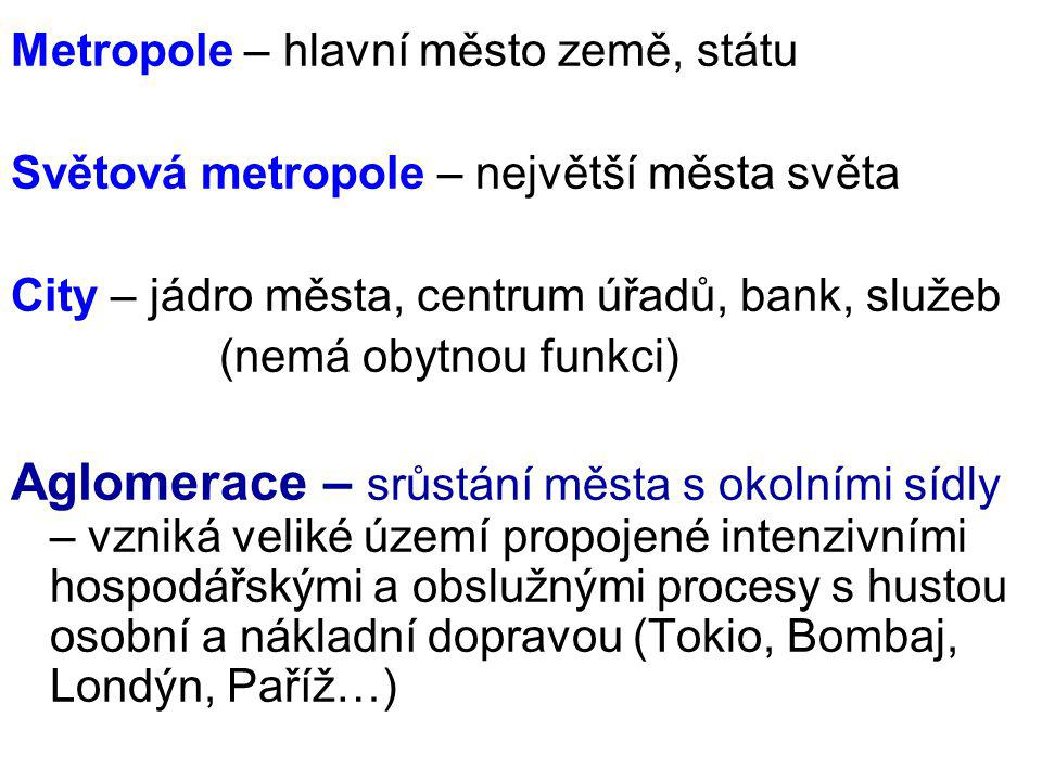Metropole – hlavní město země, státu