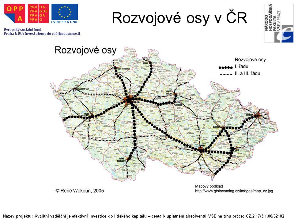 Rozvojové osy v ČR Evropský sociální fond. Praha & EU: Investujeme do vaší budoucnosti.