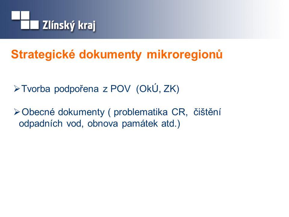 Strategické dokumenty mikroregionů