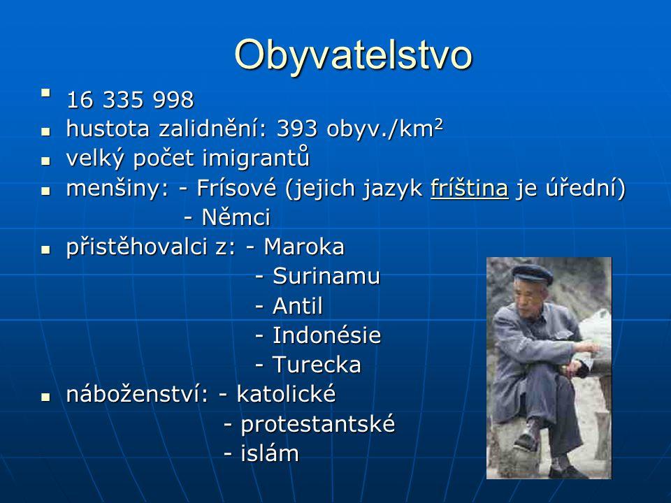 Obyvatelstvo 16 335 998 hustota zalidnění: 393 obyv./km2