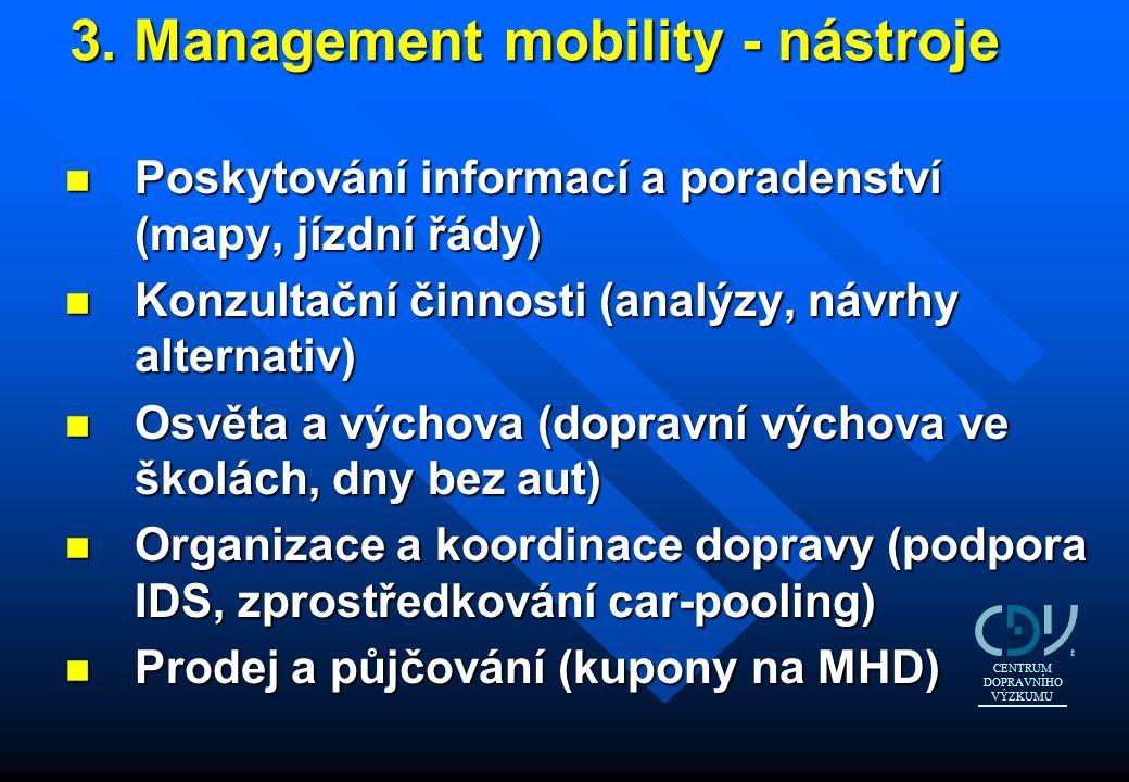 3. Management mobility - nástroje