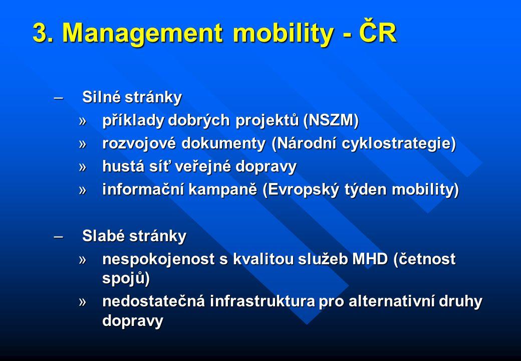 3. Management mobility - ČR