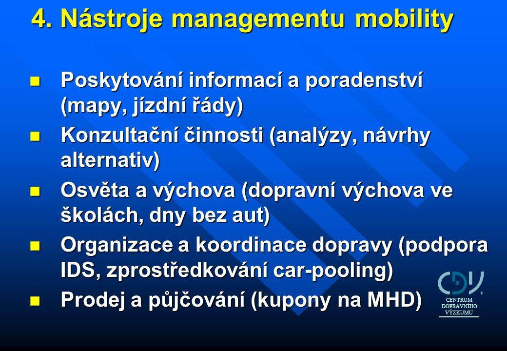 4. Nástroje managementu mobility