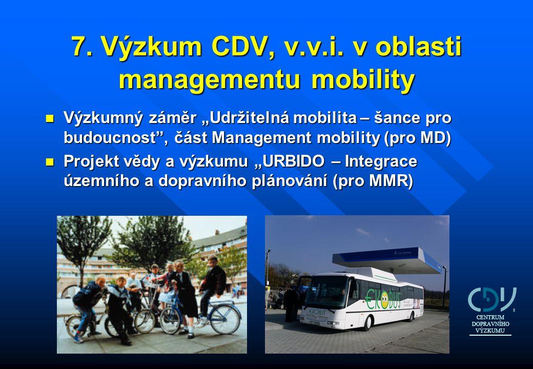 7. Výzkum CDV, v.v.i. v oblasti managementu mobility